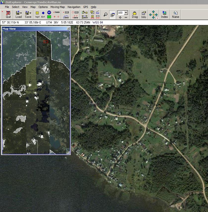 Спутниковый снимок Селигера лдя Гармин