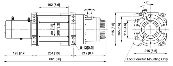 DV18 - схема размеров
