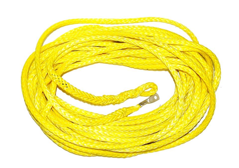 Трос синтетический, готовый 12мм х24м (желтый)