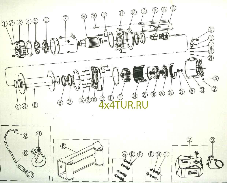 Лебедка электрическая чертежи
