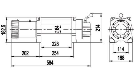 Схема размеров X9500 и Х12500