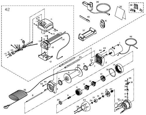 Схема устройства лебёдки Ком Ап DS 9,5