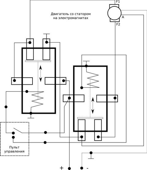 Схема подключения мотора без